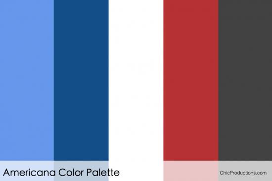 Americana Color Palette - Orange County Wedding Planner