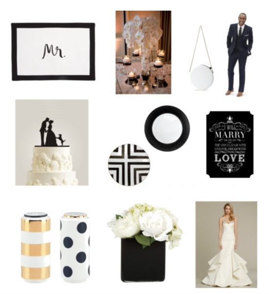 Chic Productions Style Board - Chanel Chic - Wedding Planner and Designer in Southern California