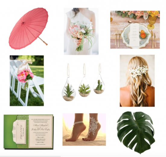 Chic Productions Style Board - Chic Beach - Beach Wedding Designer