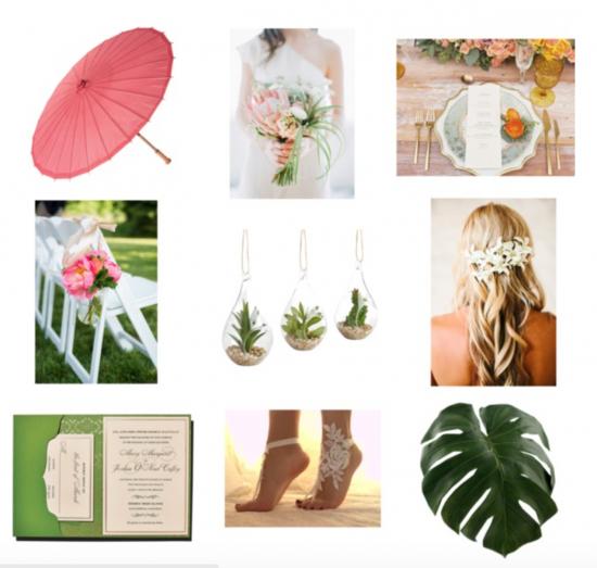 Chic Productions Style Board - Chic Beach - Beach Wedding Designer