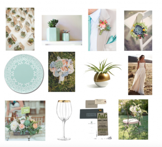 Chic Productions Style Board - Desert - Palm Springs Wedding Design