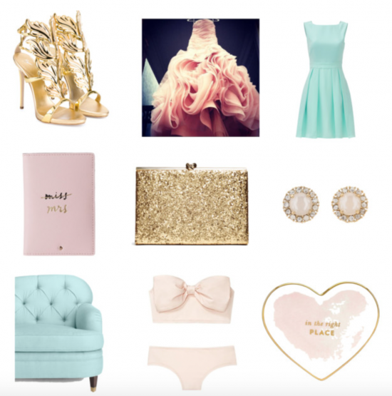 Chic Productions Style Board - Feminine - Orange County Wedding Planner