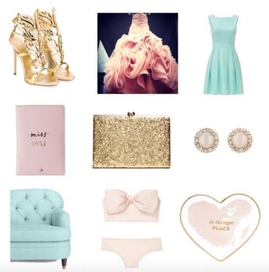 Chic Productions Style Board - Feminine - Orange County Wedding Planner