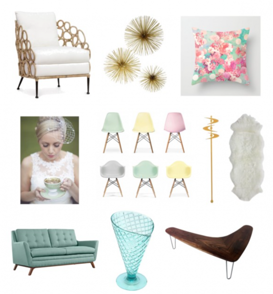 Chic Productions Style Board - Retro Chic - Wedding Planner and Designer
