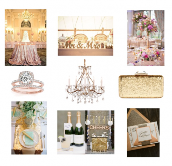 Chic Productions Style Boards - Glamour - Luxury Wedding Planner in Southern California
