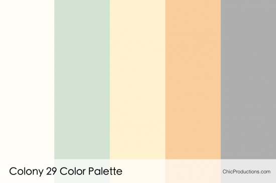 Colony 29 Color Palette - Chic Productions Palm Springs Wedding Planner