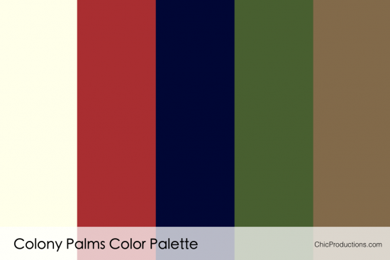 Colony Palms Color Palette - Chic Productions Palm Springs Wedding Planner