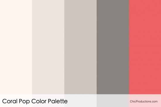 Coral Pop Color Palette - Orange County Wedding Designer