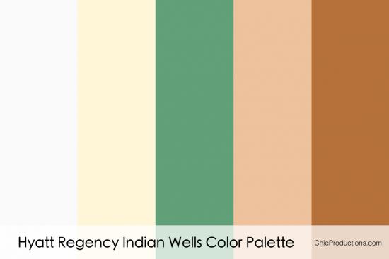 Hyatt Regency Indian Wells Color Palette - Chic Productions Palm Springs Wedding Planner