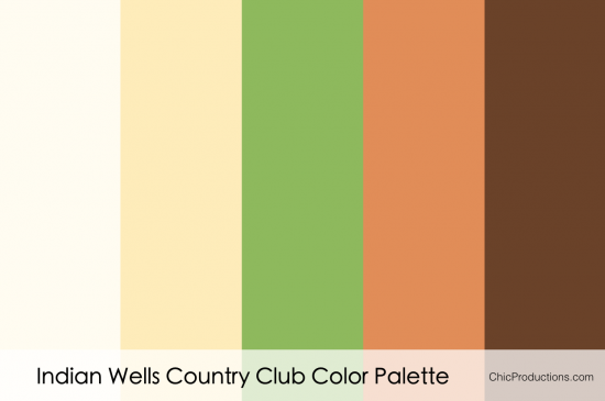Indian Wells Country Club Color Palette - Chic Productions Palm Springs Wedding Planner