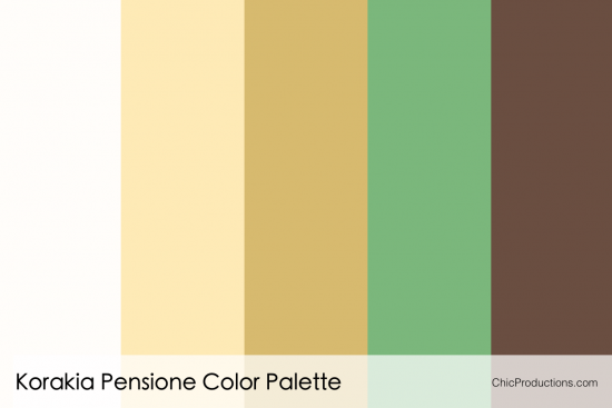 Korakia Pensione Color Palette - Chic Productions Palm Springs Wedding Planner