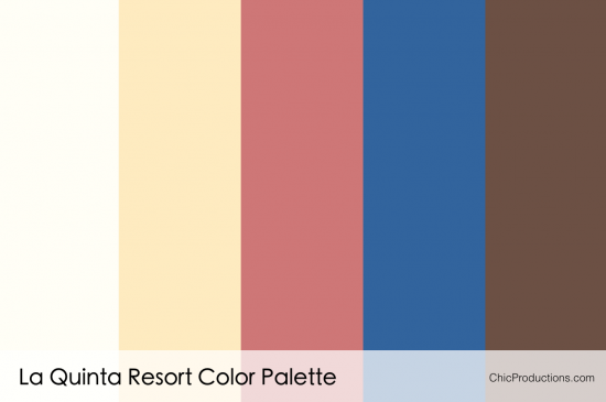La Quinta Resort Color Palette - Chic Productions Palm Springs Wedding Planner