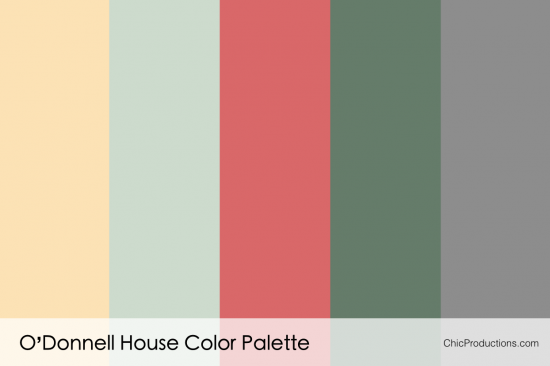 O'Donnell House Color Palette - Chic Productions Palm Springs Wedding Planner