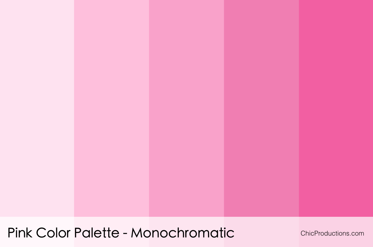 Color palettes chic productions Good color combination for pink