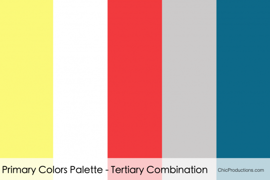 Primary Colors Palette - Palm Springs Wedding Planner