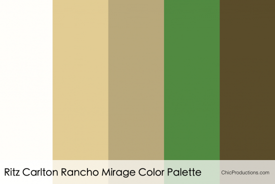 Ritz Carlton Rancho Mirage Color Palette - Chic Productions Palm Springs Wedding Planner