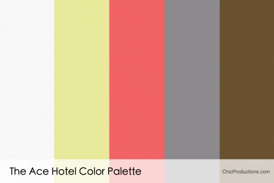 The Ace Hotel Color Palette - Chic Productions Palm Springs Wedding Planner