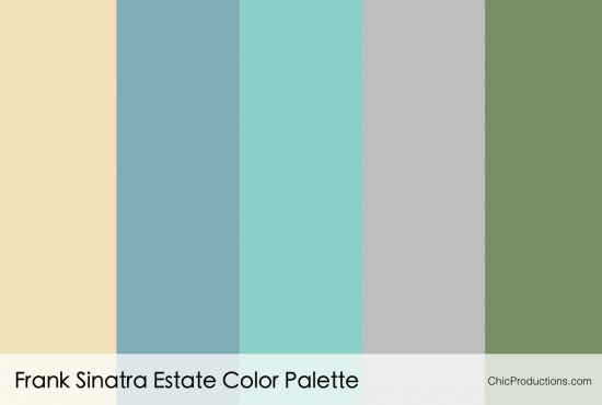 The Frank Sinatra Estate Color Palette - Chic Productions Palm Springs Wedding Planner