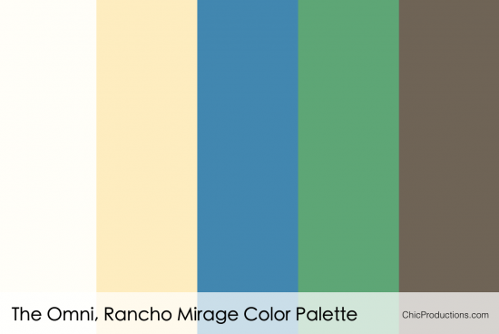 The Omni Rancho Mirage Color Palette - Chic Productions Palm Springs Wedding Planner