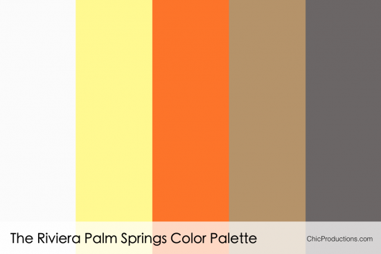 The Riviera Palm Springs Color Palette - Chic Productions Palm Springs Wedding Planner