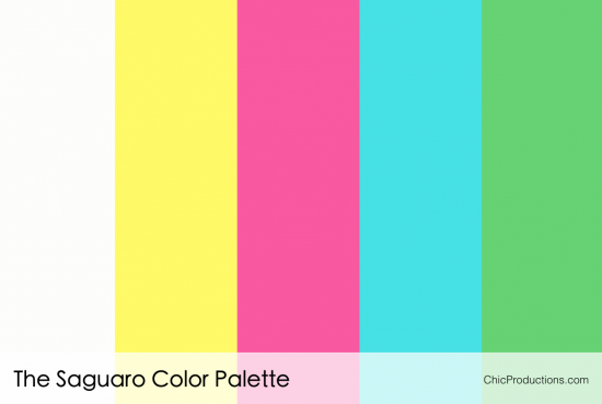 The Saguaro Color Palette - Chic Productions Palm Springs Wedding Planner